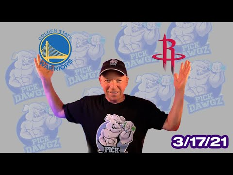 Houston Rockets vs Golden State Warriors 3/17/21 Free NBA Pick and Prediction NBA Betting Tips
