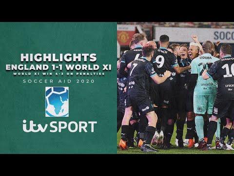 Highlights Soccer Aid 2020 England V World Xi Itv Sport Youtube