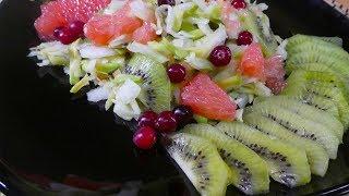 Салат с  капустой!  Простой  и вкусный  рецепт правильного питания!