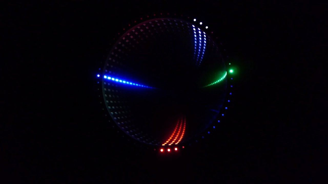 infinity mirror led clock