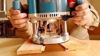 Фрезерование тонкого паза и гребня фрезером Makita и дисковой фрезой