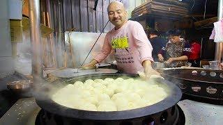 Taiwan Street Food - DUMPLING HEAVEN at Taipei's BEST Night Market: Tonghua STREET FOOD in Taiwan