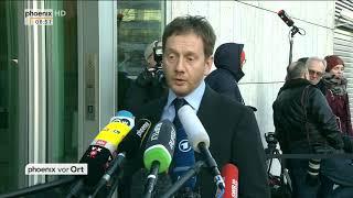 Armin Laschet und Michael Kretschmar zur Sondierung zwischen CDU/CSU und SPD am 08.01.18