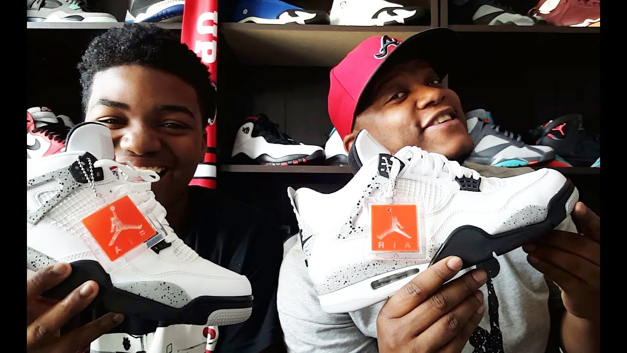 cbee1bd3e8dbc6 JORDAN 4  CEMENT  REVIEW AND ON FEET WITH JAYYKICKS!!! - YouTube