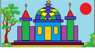 Menggambar Masjid Bagus Nusagates
