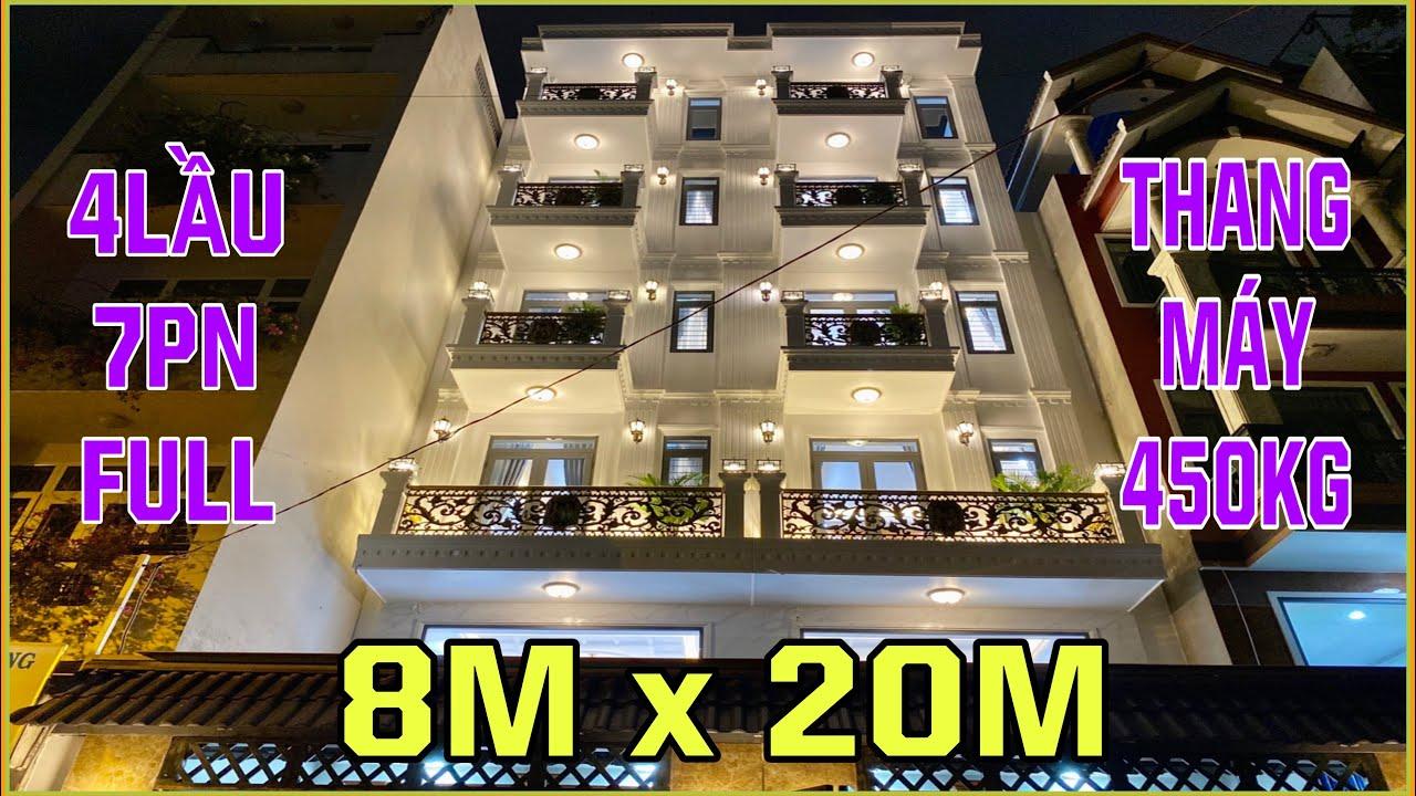 Bán nhà Gò Vấp   Cặp đôi nhà đẹp 8m x 20m có thang máy trệt lững 4 lầu Nguyễn Văn Lượng Gò Vấp