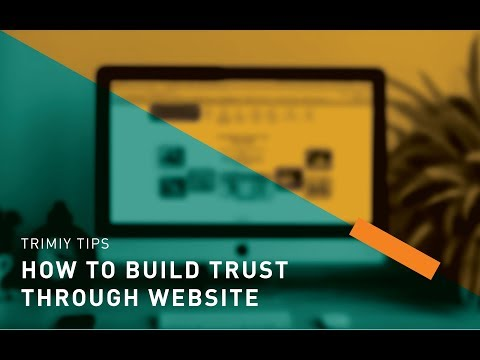 How to build trust through website?