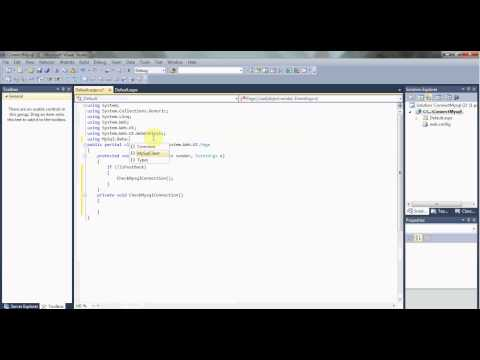 Connect To Mysql Database in ASP.Net