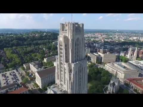 4K HD Drone footage University of Pittsburgh, Phipps, CMU