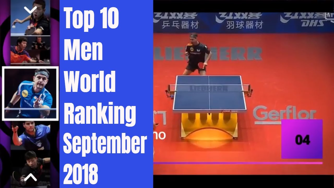 Top 10 Table Tennis Men World Ranking (September 2018)