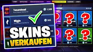 SO VERKAUFST du SKINS in FORTNITE + DAILY SHOP | Fortnite BattleRoyale Shop