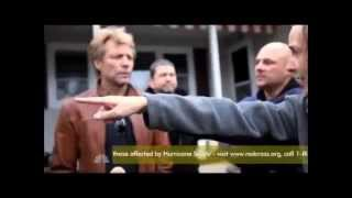 Jon Bon Jovi survey' Hurricane Sandy damage in hometown of Sayreville, NJ (REPOST) Nov 2 Telethon