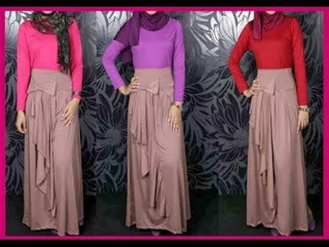Model baju terbaru baju kurung gamis muslim baju trend Baju gamis model trendy