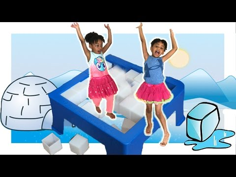 Don't Break The Ice game! Family Fun Board Game for Kids with Egg Surprise Toys
