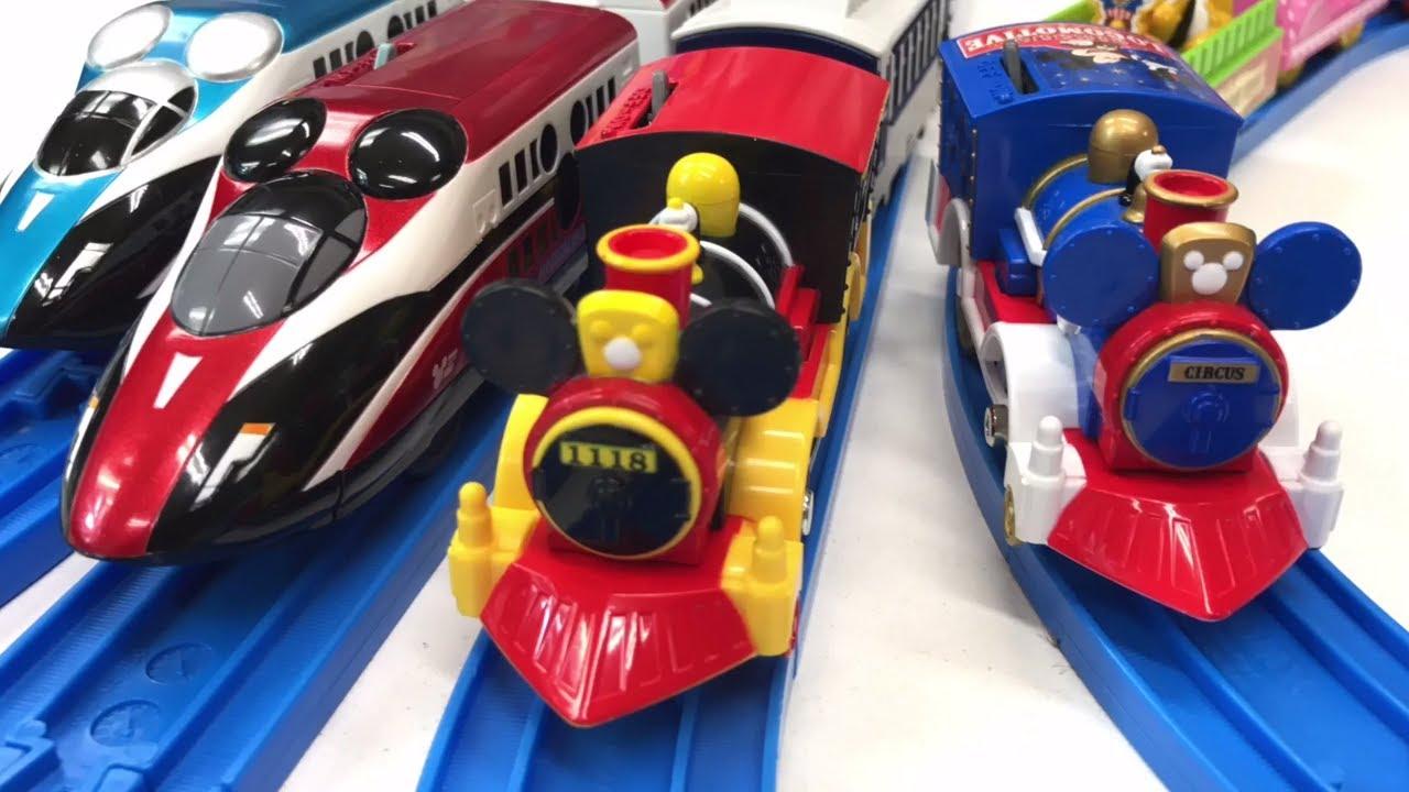 Mickey Mouse Tomy Disney Dream Railway Circus Train Western Train Magical Express Plarail Youtube