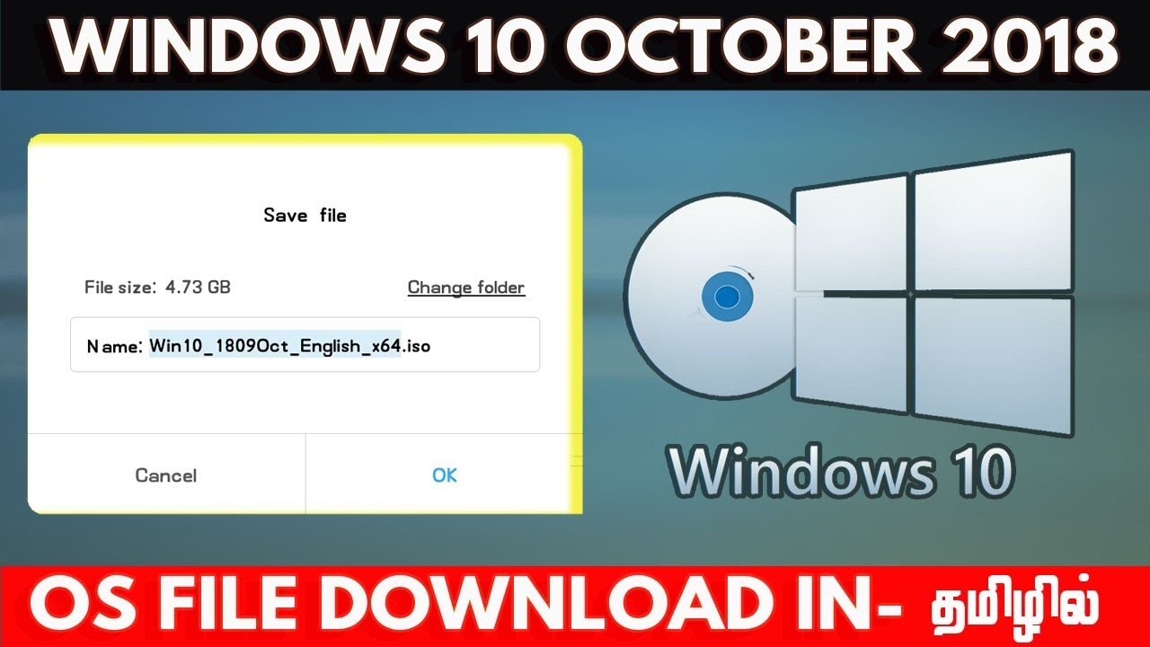 Download Windows 10 Iso Latest October 2018 Update- Tamil