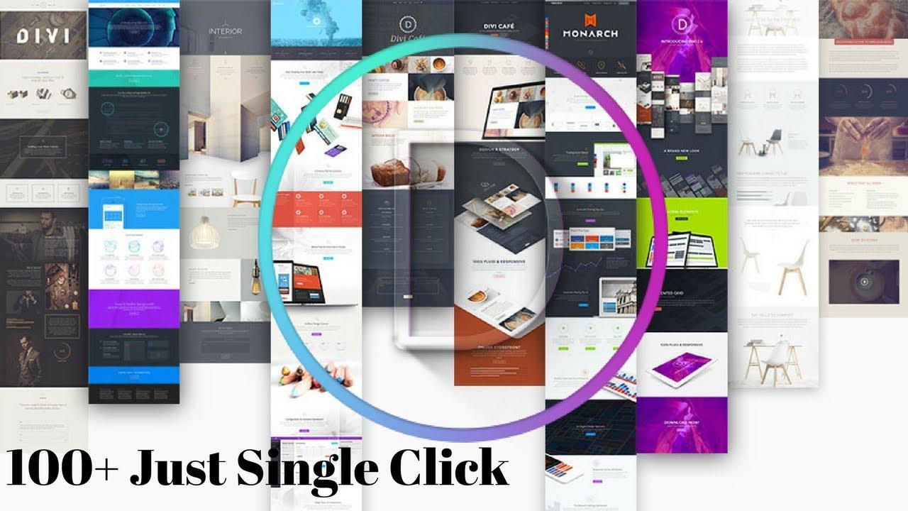 100 + WordPress Layout Just Single Click By Divi- 2018 | Hindi turorial