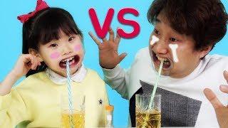 침 흘리지마! 라임 VS 아빠 마우스피스 보드게임 장난감 놀이 family challenges & LimeTube toy review