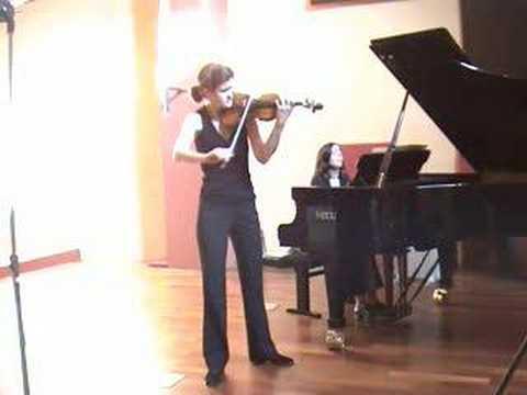 Elsa GRETHER Delphine BARDIN, SIBELIUS, Violin Concerto 1st mvt