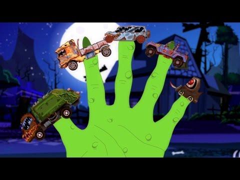 Страшные Грузовики Палец Семья | Дети рифмы | Halloween Song | Kids Song | Scary Truck Finger Family