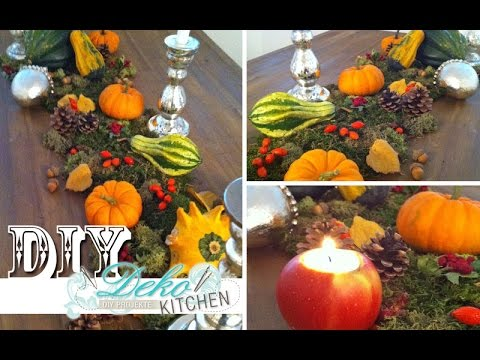 Diy Opulente Herbst Deko Fur Den Tisch Deko Kitchen Youtube