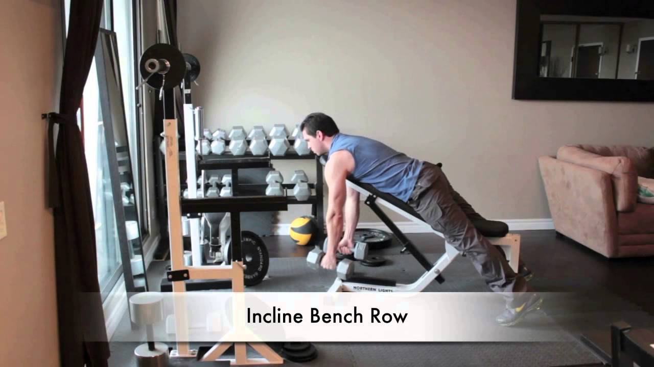Dumbbell Back Exercises Incline Bench Row Youtube