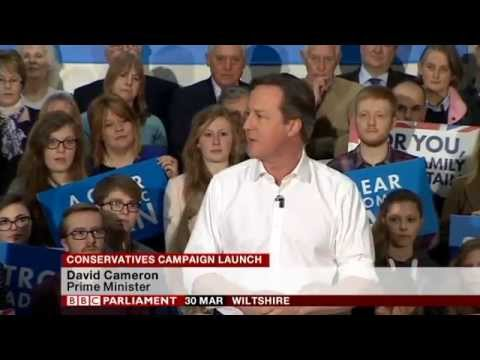 David Cameron speech at Conservatives Campaign Rally launch, 30th March 2015