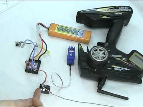 Setting an RC Servo to Neutral and General Electronics guide ESC battery RX TX.mpg