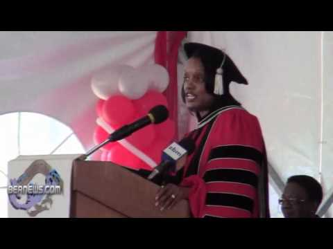 Dr Duranda Greene 33rd Annual Commencement Ceremony Bermuda College May 19 2011