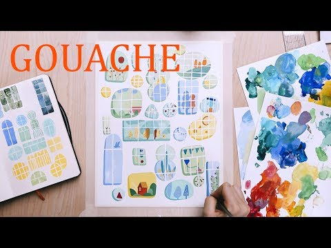 Gouache Illustration Process (from sketch to final piece ) thumbnail