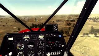 FSX - Bumping Landing - SuperCub - FTX - TrackIR