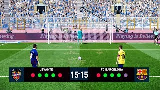 PES 2020 | LEVANTE vs BARCELONA | Penalty Shootout | Gameplay PC