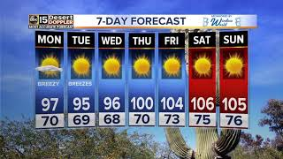 Top stories: Brush fires in Arizona; Temps warming up; Seat belt reminder;