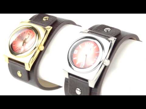 Kenneth Cole Leather Cuff Watch (For Men and Women)