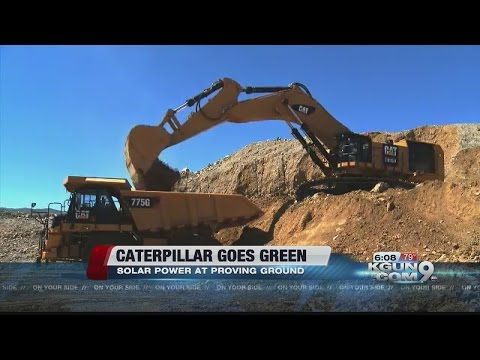 Caterpillar goes green with solar energy in Green Valley