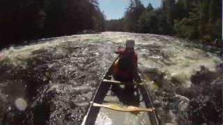 Whitewater Canoeing - Petawawa River, Algonquin Park -  July 2011 - GoPro HD