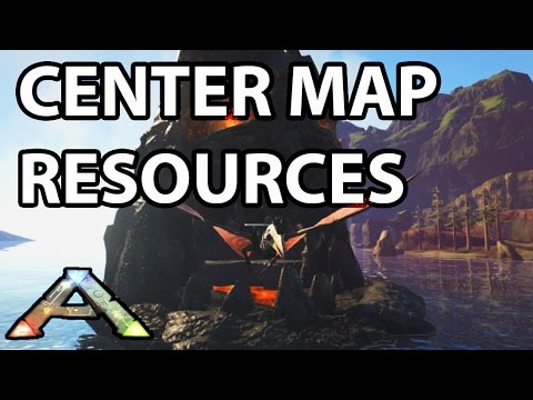 Resource Locations (Oil, Silica Pearls, Obsidian) on Center Map Ark Survival Evolved