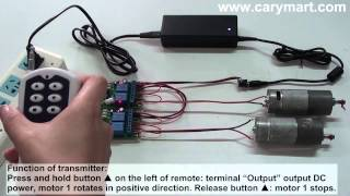 Wireless remote control two reversible DC motors