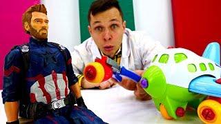 Супергерои: Капитан Америка в Мегаклинике. Мультики для детей