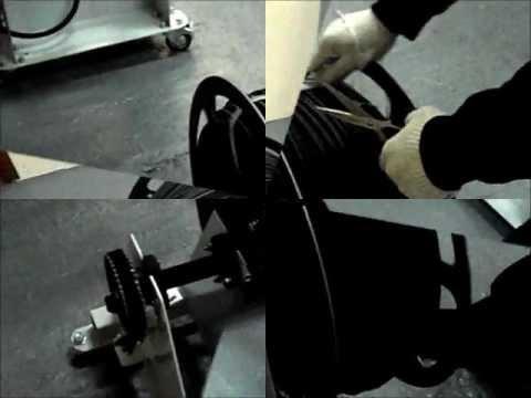 видео: Намотка, перемотка кабеля, провода на станке ПС-30-600