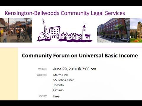 Community Forum on Universal Basic Income
