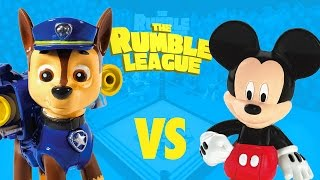 Paw Patrol Toys vs Mickey Mouse Clubhouse Toys - Disney and Nickelodeon Toy Battle Royal by KidCity