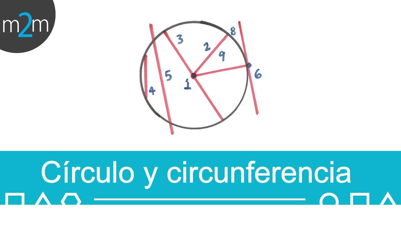 Circunferencia y círculo - YouTube