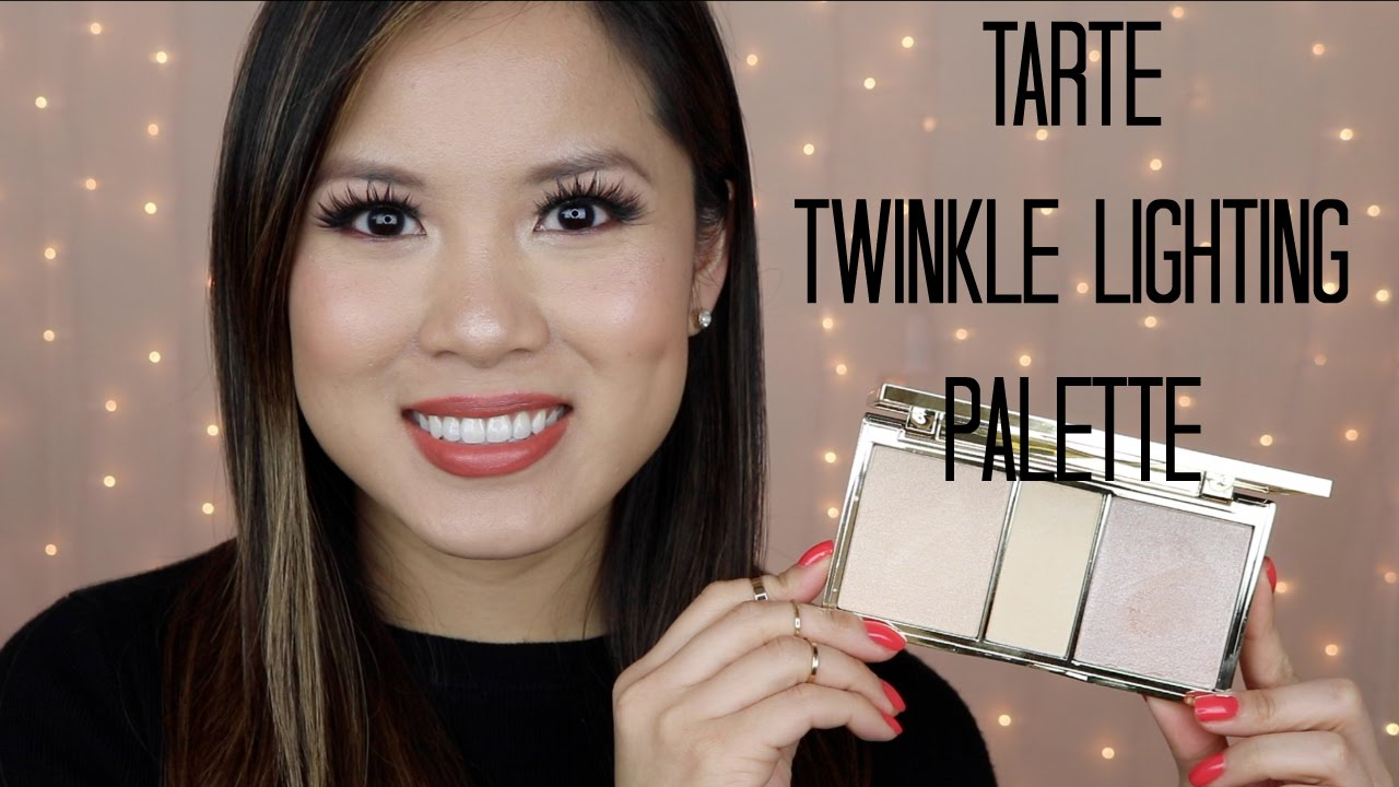 New Tarte Twinkle Lighting Palette Review Swatches Youtube