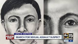 Search underway for Apache Junction sexual assault suspect