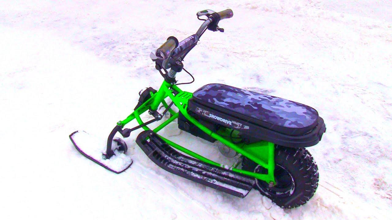 Детский ЭЛЕКТРО снегоход под ключ, создание испытание и расходы!!