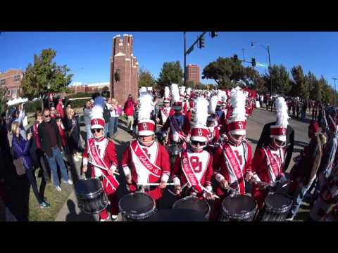 The Pride Of Oklahoma marching into the stadium