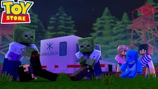 THE TOY STORE IS OVERRUN BY ZOMBIES !!! Minecraft THE WALKING DEAD TOY STORE w/ Little Kelly Sharky