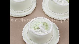 Classic Over-piped Scrolls Trellis Cake