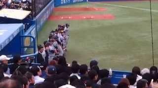 2015/10/31 東京六大学野球 志村亮氏(慶應OB)始球式